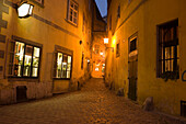 Historical tavern Griechenbeisl in small alleyway, Beethoven's favourite, Vienna, Austria