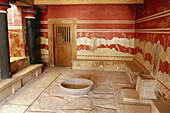 Room, Minolian Palace, Knossos near Iraklion, Crete, Greece
