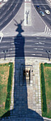 A shadow of the victory Column, siegessaule, Berlin, Germany