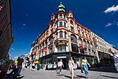 Shopping in Karl Johans Gate, Oslo city , Norway