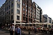 Business People crossing Poststrasse, Poststrasse, bar, restaurant, sidewalk cafe, City, Hamburg