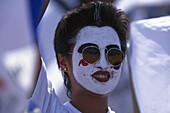 Female football fan from South Korea