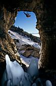 Albert Leichtfried climbing Game Over, Mixed climbing, albert leichtfried the game over m13, Tirol, Austria