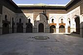 Inner court of Medersa, Bou Iniana, Fes, Morocco