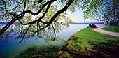 Seeufer beim Midgardhaus, Tutzing, Starnberger See, Oberbayern, Deutschland