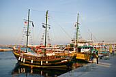 Excursion sailing boats by quay, Kardamena, Kos, Greece