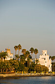 View to the Palazzo di Giustizia, built 1928 during the italian occupying time, Kos-Town, Kos, Greece
