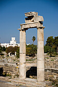 Remains of the Agora and Palazzo di Giustizia in background, Kos-Town, Kos, Greece