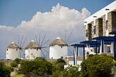 The small luxury Theoxenia Design Hotel next to the windmills, Mykonos-Town, Mykonos, Greece