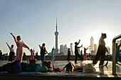 Morning exercise, sword dance, Shanghai