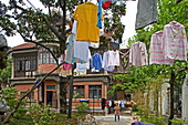 Villa, French Concession, summer, 36, Sinan Lu, Wäsche, laundry, clothes line, washing, famous opera singer (female role) lived here