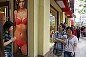 Dessous Shop, Huaihai Xilu, display, window decoration, window dressing, store, pedestrain, arcade, shopping mall, sex, lingerie, poster