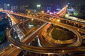 elevated highway system, Nanpu Bridge Interchange, Shanghai