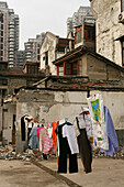 redevelopment area, demolition in old town, Lao Xi Men, Shanghai