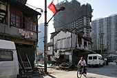 demolition in old town, Lao Xi Men, redevelopment area, Shanghai, China