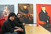 ShanghART art gallery, Moganshan,paintings of painter Zhou Tiehei, exibition hall, Gallery, art dealer, 50 Moganshan Road