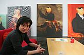 ShanghART art gallery, Moganshan,paintings of painter Zhou Tiehei, born 1966, exibition hall, Gallery, art dealer, art dealer, 50 Moganshan Road