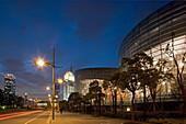 Oriental Art Centre Shanghai, Pudong,Veranstaltungszentrum in Pudong, architecture, glass facade, Skyline Pudong, events, architect Paul Andreu of Paris