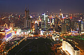 People's Square,Birdseye view of People's Square, Nanjing Road, skyline, City Hall, People's Park