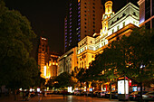 People's Square,Prachtbauten mit Park Hotel, colonial architecture, hotel, Nanjing Road