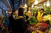 flower market, Wenhua Guangshan, near Shaanxi Nanlu, flowers, flower market, floral, rose, plant, old, sales