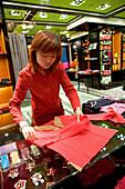 Tang, Xintiandi, Hong Kong, David Tang, store, old china fashion, Mao style, houseware, sales woman