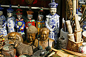 Mao and Buddha miniatures, souvenir stall, China