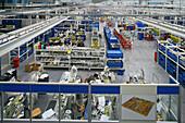 Siemens,Siemens-Werk, High-Tech, Fabrikation für Schalter, switch production, Halle, hall