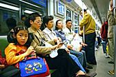 Metro Shanghai, mass transportation system, subway, public transport, underground station, commuters