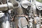 Knights in armor,Kaltenberger knight festival, Kaltenberg, Bavaria, Germany