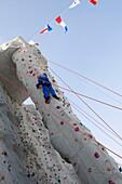 Climbing Rock Wall,Freedom of the Seas Cruise Ship, Royal Caribbean International Cruise Line