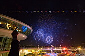 Fireworks Extravaganza over Hamburg Harbor,Freedom of the Seas Cruise Ship, Royal Caribbean International Cruise Line
