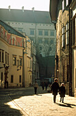 Kanonicza street and Wawel castle, Cracow, Poland