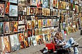 Street Gallery on Florianska street, Cracow, Poland