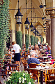 Cafe in Cloth Hall at the Main Market Square, Cracow, Poland