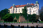 Wawel royal castle in Cracow, Poland