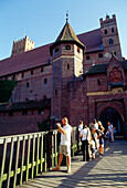 Castle  in Malbork, Poland,Tourists in the Castle of the Teutonic Knights in Malbork (13th - 14th centuries), Poland