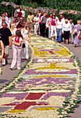 Before the Procession on Flower Carpets (lenght 2 kilometers) for Corpus Christi in Spicimierz near Lodz, Poland