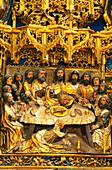 Abendmahl,Retabel der Klosterkirche,Cartuja de Miraflores,bei Burgos,Castilla-Leon,Spanien