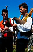 Bagpipe musician,Curro,San Andres de Teixido,Sierra Capelada,Province La Coruna,Galicia,Spain