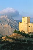 Castle in front of mountain,La Muela,Velez Blanco,Province Almeria,Andalusia,Spain