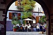"""Restaurant """"A la Couronne"""" in Riquewihr,Elsass,France"""