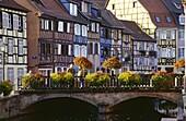 Quai de la Poissonerie,Petite Venise in Colmar,Elsass,France