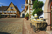 Ceramics at Place du Chateau in Eguisheim,Elsass,France