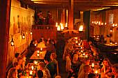 medieval meal at Olde Hansa, Tallinn, Estonia