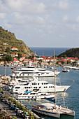 Luxury Yachts at Gustavia Harbor, Gustavia, St. Barths