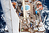 View from Star Clipper Mast, Caribbean Sea