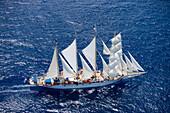 Aerial Photo of Star Clipper,Antigua Classic Yacht Regatta, Antigua