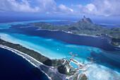 Aerial Photo of Bora Bora Lagoon,Bora Bora, French Polynesia
