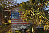 American Flag on Barn, Merritt Island, Florida, USA